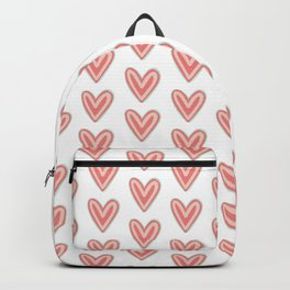 I Heart You in Pink and Coral Backpack