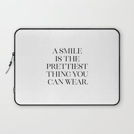 A Smile Is the Prettiest Thing You Can Wear, Printable Art, Modern Wall Art Laptop Sleeve