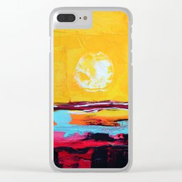 Abstract Landscape - My Moon Clear iPhone Case