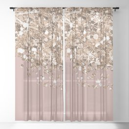 Rose éclat Sheer Curtain