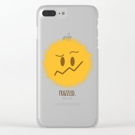 frazzled emoji #society6 Clear iPhone Case