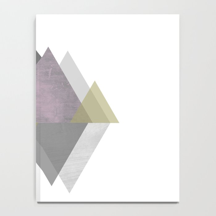 To the Mountains I Must Go, Abstract Geometric Art Notebook
