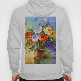 Bouquet of roses and meadow flowers Hoody