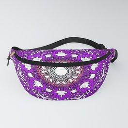 Mandala Flower Purple Fanny Pack