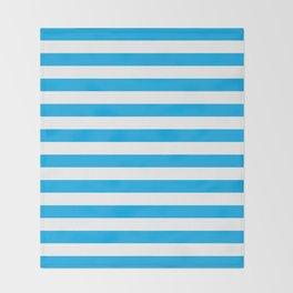 Horizontal Blue Stripes Throw Blanket