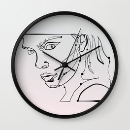 transparent like the eyes (letting everything go) Wall Clock