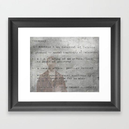 Definition  Framed Art Print