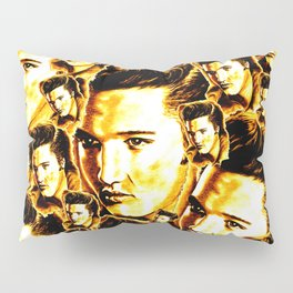 Elvis in Orange-Gold Pillow Sham