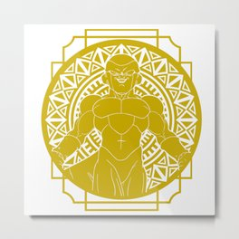 Stained Glass - Dragonball - Golden Frieza Metal Print