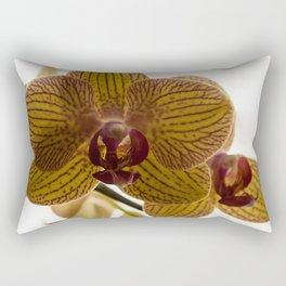 Red Veined Orchid Rectangular Pillow