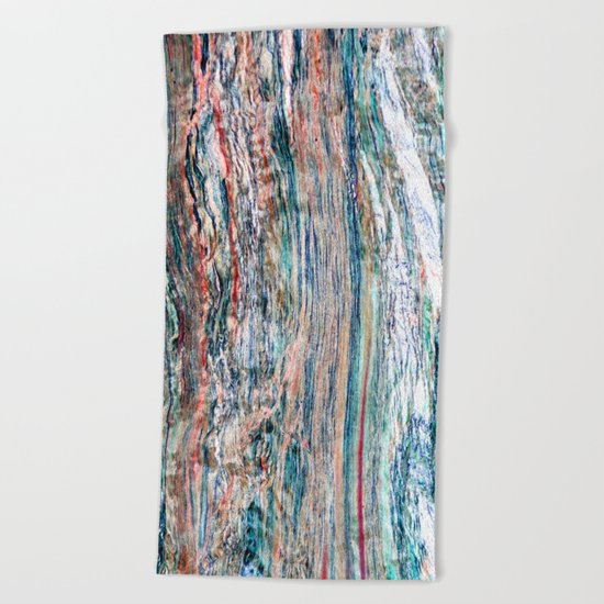 Colorful Mineral Beach Towel