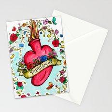 Botanical Heart Illustration Stationery Cards