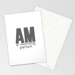 A Morning Person Stationery Cards
