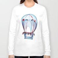 ballon Long Sleeve T-shirts featuring Hot Air Ballon by Ann Garrett