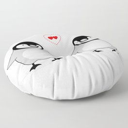 Penguin Love Floor Pillow