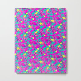 Star Cactus in Neon Pink Metal Print