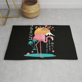 Flamingo Japanese Art Style Rug