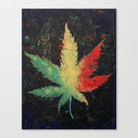 marijuana Canvas Prints featuring Marijuana by Michael Creese