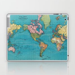 Vintage Map of The World (1897) Laptop & iPad Skin