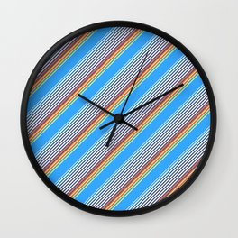 Summer Inclined Stripes Wall Clock