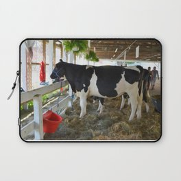 Black and white cow Laptop Sleeve
