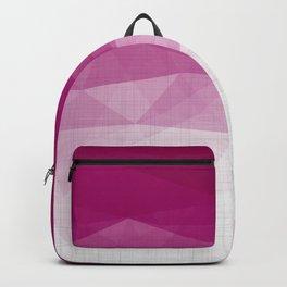 Imperial Ruby - Geometric Triangles Minimalism Backpack