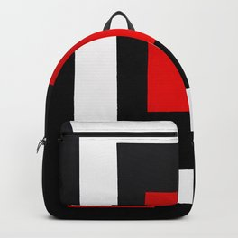 Geometric Abstraction - Red Backpack