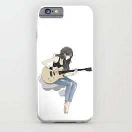 #art #girl #anime #guitar #animation #society6 #gift #shop iPhone Case