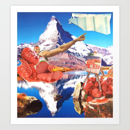 Surreala Alpina 2 Art Print