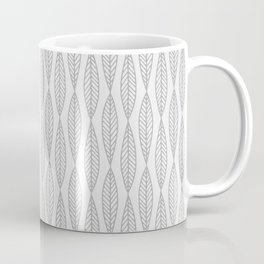 Minimal Gray Leaves Coffee Mug