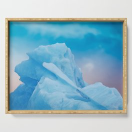 Abstract Blue Icelandic Iceberg Serving Tray