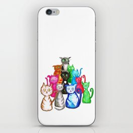 Gang of cats iPhone Skin