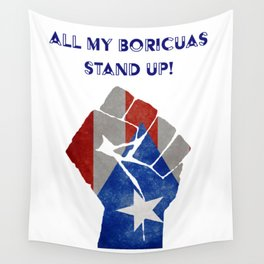 Boricuas Stand Up Wall Tapestry