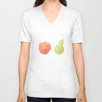 best friends V-neck T-shirts featuring Best Friends by Benjamin Flouw