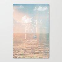nashville Canvas Prints featuring nashville by Josh Hawkins