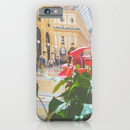 Laceleaf plants in glass-domed galleria of Milan iPhone Case