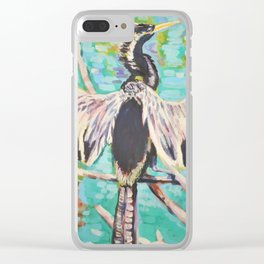 The Anhinga's Victory Clear iPhone Case