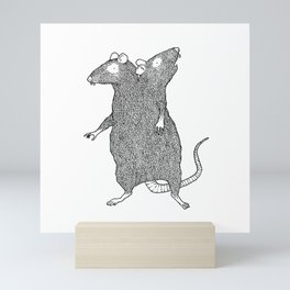 Two Headed Rat, I Love You Mini Art Print