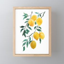 yellow lemon 2018 Framed Mini Art Print