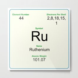 44 Ruthenium Metal Print