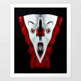 Creepy Clown 01215 Art Print