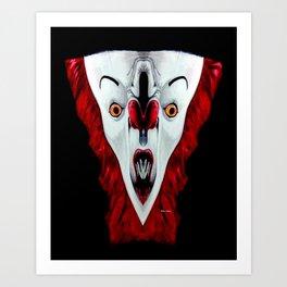 Creepy Clown 01215 Art Print