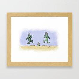 Cactuars Framed Art Print