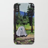 camp iPhone & iPod Cases featuring Camp by Kira Yustak