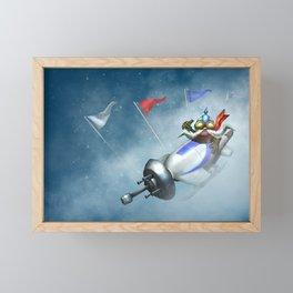 Ice Toboggan Corki League of Legends Framed Mini Art Print