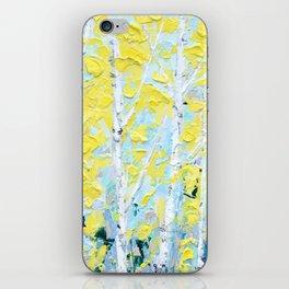 New England Paper Birch iPhone Skin