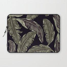 palm leaves black Laptop Sleeve