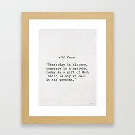 Bil Keane quote Framed Art Print
