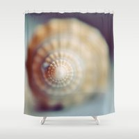 shell Shower Curtains featuring Shell by elle moss