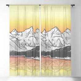 Moraine Lake Banff Sheer Curtain